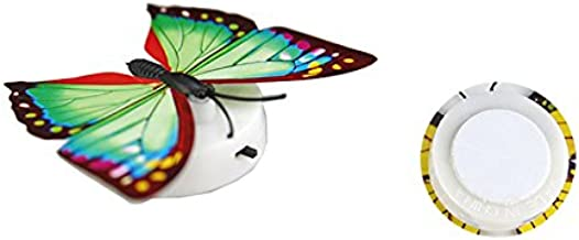Mariposa LED luz nocturna adecuada para sala de conferencias en casa mesa de banquete decoración de la pared (Multicolor, 1)