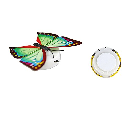 ☀ Dergo ☀ Night Light Lamp with Suction Pad Colorful Changing Butterfly LED Night Light Lamp Home Room Party Desk Wall Decor Home Decor
