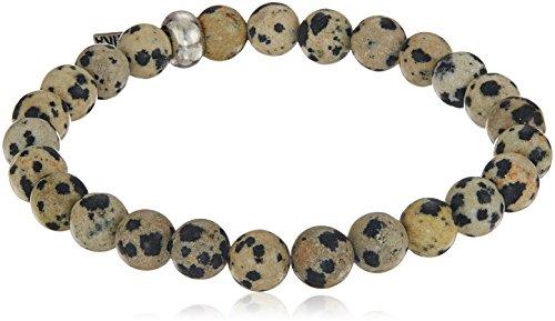 Ettika Men's Dalmatian Jasper Elastic Bracelet