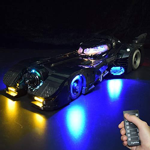 Likecom Jeu De Lumières Pour Batmobile, Modèle En Blocs De Construction - Kit De Lumière A Led Compatible Avec Lego 76139 (Ne Figurant Pas Sur Le Modèle) - Version Télécommande