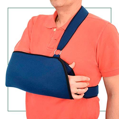 ORTONES | Cabestrillo Sling ajustable para hombro brazo | Inmovilizador | Talla universal | Azul. ✅