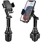 Cellet Car Cell Phone Accessories Cup Holder Smartphone Mount Rotation Adjustable Compatible to iPhone 11 Pro Xs Max Xr X 8 8+ 7 7+ SE Note 11 10 9 Galaxy S20 S20+ Ultra 5G S10 S9 S8 Fold Pixel 4 3 XL