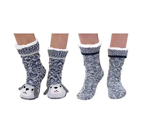 Jane and Bleecker 2 Pair Slipper Socks