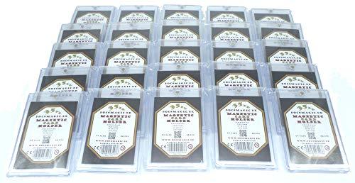 docsmagic.de 25 x Magnetic Card Holder Clear 35 PT UV Safe- Tarjetero con imán