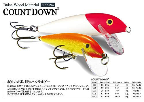 ラパラ カウントダウン 7cm 8g ゴールド稚アマゴ COUNT DOWN. CD7-GJTR