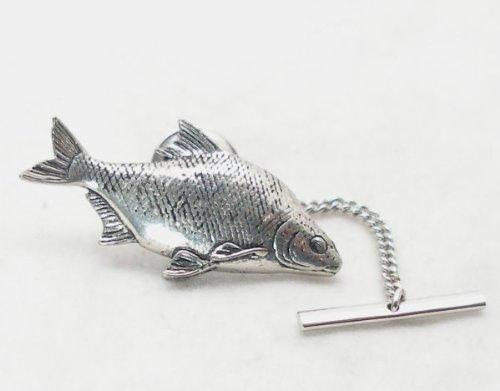 Pasador de corbata de pescado besugo al Hoardersworld, peltre Inglés, en caja de regalo