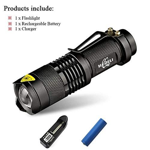 Lot B, CREE XML T6 3000 lm : mini lampe de poche LED puissante lanterna zoom lampe CREE XM L2 xml T6 LED Linternas Zaklamp 18650 Light Chargeur lampe torche