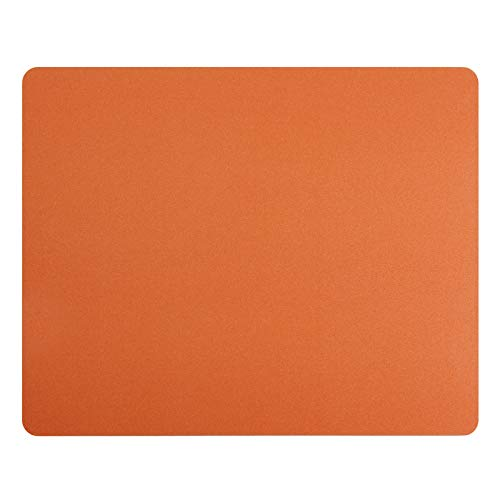 Gaming Mouse Pad Carbon Fiber Surface Gaming Mat Mouse Mat for Game/ Office/ Home/ Work (Orange, 10 1/4x8 1/4x3/32 inch)