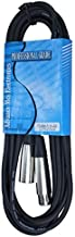 MCSPROAUDIO 15 foot Male to Female XLR microphone cable (Black)