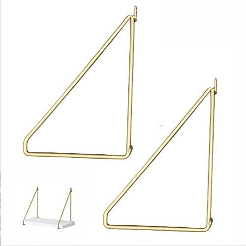 Liyijiestore Dreieckig Regalträger,Schwerlast-Wandregalhalterung,Eisenkunst/Rostschutz/Verschleißfest (Golden/2 Stück) (Size : 400mm(15.7inch))