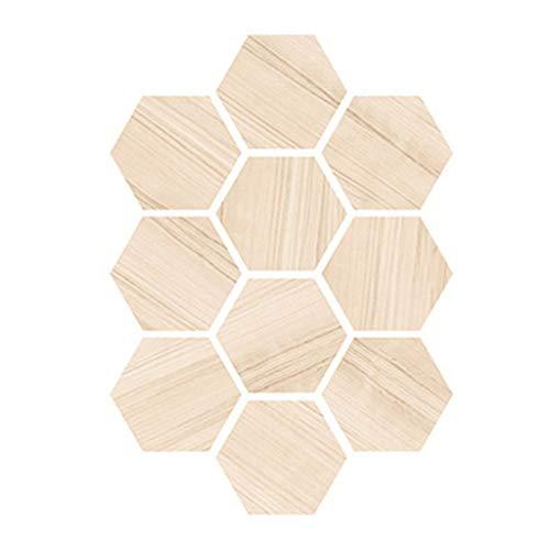TwoCC Decorazioni Natalizie Adesivi Esagonali Adesivo Esagonale Autoadesivo Antiscivolo per Piastrelle del Pavimento della Cucina del Bagno