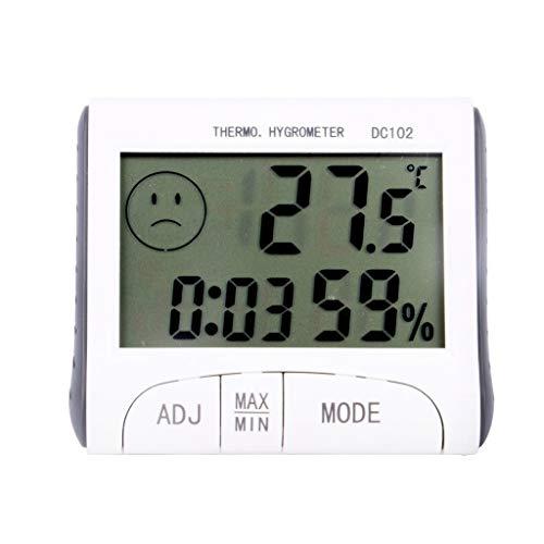 YUTRD ZCJUX Termómetro electrónico LCD Probador de Temperatura Digital Termómetro inalámbrico Higrómetro Humedad Medidor de Humedad Tester