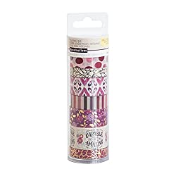 washi tape rolls-purple and pink