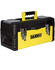 DANNIO 19 inch Pro Box, Plastic and Steel Tool Box with Handle, Portable Tool Case with Locking Lid, Tool Storage Organizer