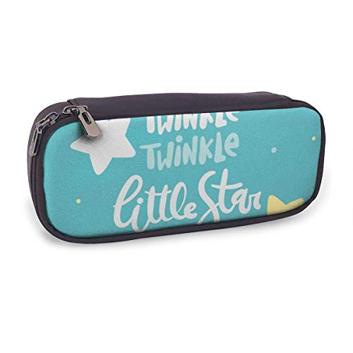Pencil Case Pen Bag,Cute Star Background with Lettering,Large Capacity Pen Case Pencil Bag Stationery Pouch Pencil Holder Pouch with Big Compartments