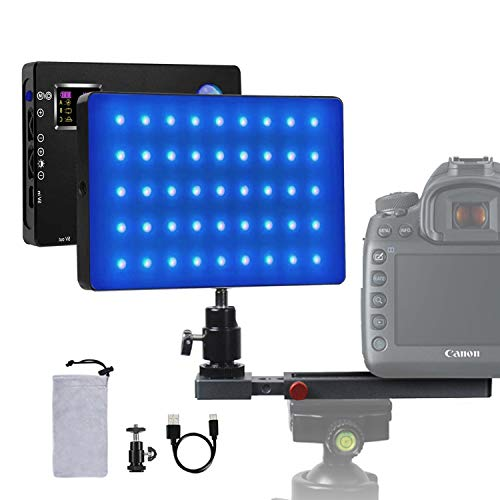 RGB Led Light Conference Laptop Video Photography Lighting kit Portable kit 4040mAh Battery Full Color Changing 3200k-7500k Dimmable USB-C for Personal YouTube Video Call Recording