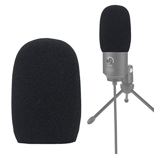 YOUSHARES Foam Mic Windscreen - Wind Cover Pop Filter kompatibel mit FIFINE USB Microphone 669B K669 für Aufnahme und Streaming