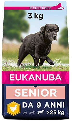 EUKANUBA Cibo Secco per Cani per la Cura dei Cani Anziani di Taglia Grande, Ricco di Pollo Fresco, 3 kg