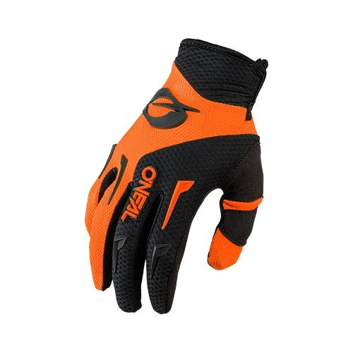 O'NEAL | Fahrrad- & Motocross Handschuh | Kinder | MX MTB DH FR Downhill Freeride | Langlebige, Flexible Materialien, belüftete Handinnenfäche | Element Youth Glove | Schwarz Neon-Orange | Größe XL