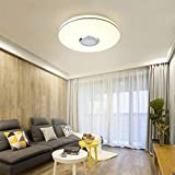 Plafón LED 36 W RGB, plafón de música colorida, lámpara de salón con mando a distancia + control APP Bluetooth, lámpara de dormitorio, clase de protección IP44