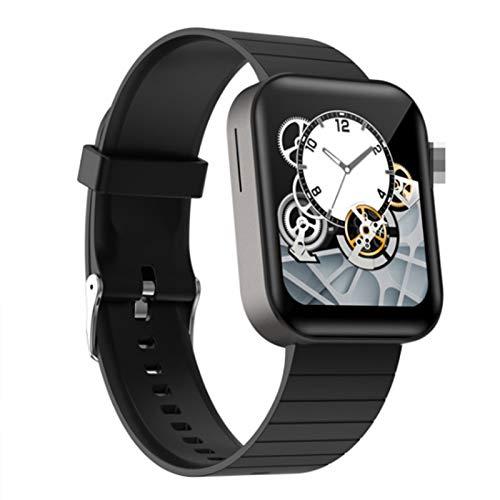 Wsaman Actividad Fitness Tracker Monitor de Sueño Podómetro Pantalla Táctil Smartwatch Impermeable IP68 Pulsera Multifuncional Deportiva, con Pulsómetro y Presión para Android/iOS,Negro