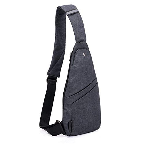 TOLOG Sling Bag Anti-Thief Crossbody Personal Pocket Bag Lightweight Chest Shoulder Backpack for Travel Hiking (Dark Grey)