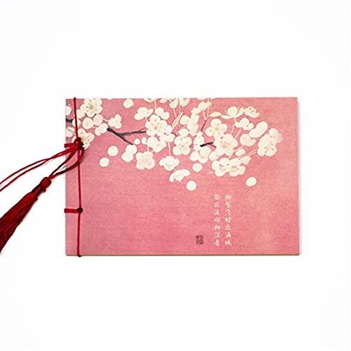 ZRJ Cuaderno de negocios de China Retro Pocket Notebook Álbum de fotos en blanco Cuaderno de bocetos, papelería, oficina, niños, cuaderno de estudiante (color : F, tamaño: 6 unidades)