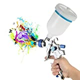 KKmoon 601 Airbrush Kit HVLP Pistola a Spruzzo d'aria Gravity Feed Paint Sprayer Set di Spazzole...