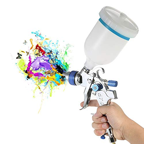 KKmoon 601 Airbrush Kit HVLP Pistola a Spruzzo d'aria Gravity Feed Paint Sprayer Set di Spazzole d'aria In Acciaio Inox 1.4mm 1.7mm 2.0mm Ugello Auto Car Detail Painting per Spot Repair Face Paint