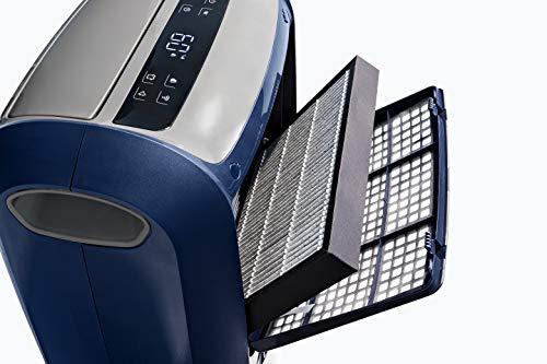De'Longhi DDSX220WF - Purificador y Deshumidificador 2 en 1 Multifunción, 21 L/d, pantalla LED, 3 velocidades y autoventilación, asa de transporte, gas ecológico, Wi-Fi App para Smart Home