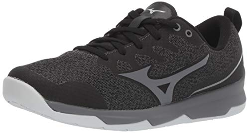 Mizuno Women's TC-02 Cross Training Shoe, Cross Training Sneakers for all forms of Exercise, Black-Grey, 8.5 B US