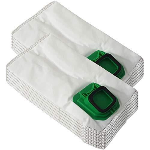 Juego de 12 bolsas de microfibra adecuado para aspiradoras Folletto Vorwerk Kobold 140, 150, VK 140, VK 150, VK140, VK150, FP140, FP150, con cierre higiénico