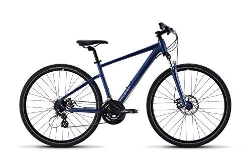 Raleigh Bikes Route 1 Hybrid Bike with 700C Wheels, 18', Blue, 18'/Medium