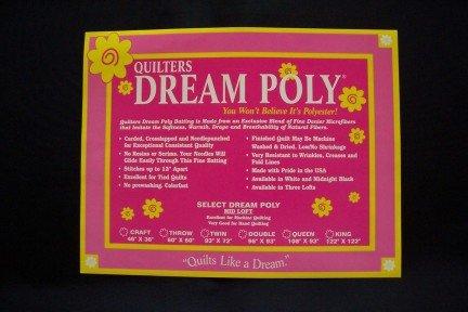 Quilter's Dream Midnight Black Poly Batting - Mid Loft - Twin