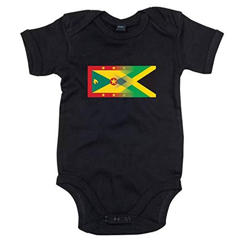 Lo Key Clothing Grenouillère pour bébé avec Inscription Personnalisable, Noir, 2 Mois