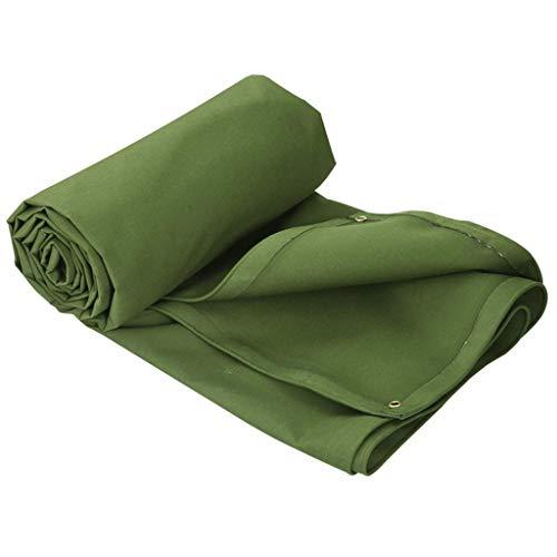 QIANMEI 0,9 millimetri verde durevole 600g / m Qualità alta densità Tela Balcone Canopy, foglio impermeabile della copertura del suolo 2m x 1.5M (Size : 6×4m)
