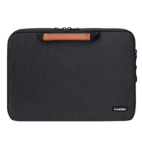 iCozzier 13-13.3 Inch Handle Laptop Sleeve Electronic Accessories Organizer Protective Bag Cover for 13' MacBook Air/MacBook Pro/Pro Retina Case-Black