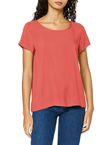 ONLY Damen ONLFIRST ONE Life SS SOLID TOP NOOS WVN T-Shirt, Mineral Red, 34