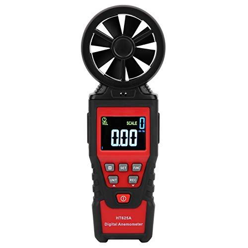 Anemómetro HT625, puede medir velocidad del viento, volumen de aire, temperatura y humedad, anemómetro de mano