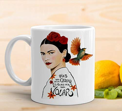 adaysusdetalles Taza Frida Khalo,Taza Ceramica Desayuno Regalo Cumpleanos Sorpresa
