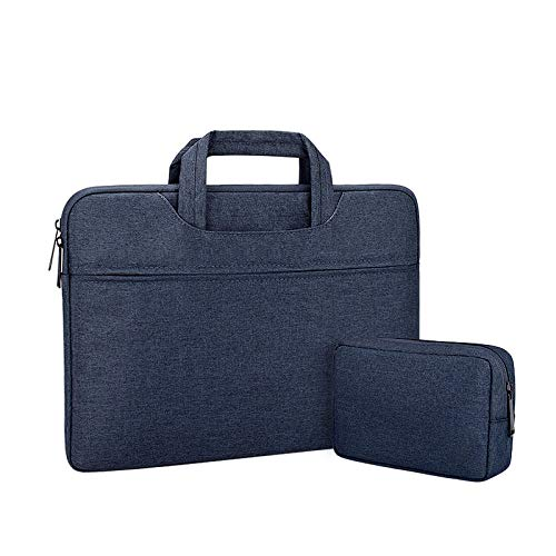 drolpt Colorful computer bag Laptop Sleeve Handbag Protective Bag Notebook 12 13.3 14 15.6 Inch Carrying Case For Macbook Air Pro Men (Color : Navy blue-sets, Size : 12-inch)