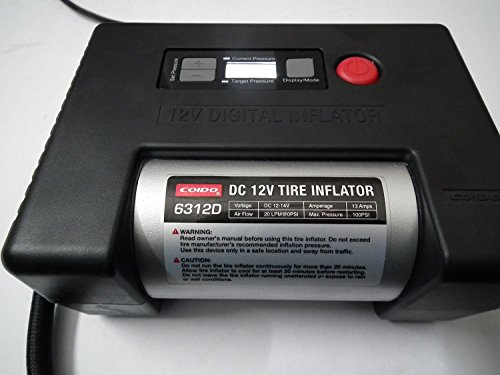 Coido 6312D Fully Automatic Tyre Inflator and Air Compressor Pump with Auto Cut-Off (100 PSI, 12V)