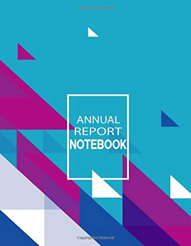Annual Report whitelines notebook a4
