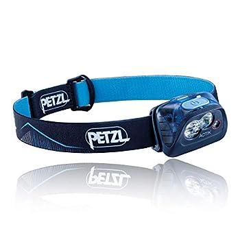 Petzl Bleue Lampe Frontale ACTIK, Taille unique & E93990 Étui poche pour lampes frontales compactes TIKKINA, TIKKA, ZIPKA, ACTIK et TACTIKKA, Noir Argent