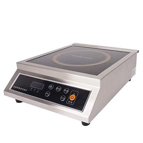 TSTYS Cocinar la encimera de inducción: Control de Acero Inoxidable de 3500W de Acero Inoxidable Cepillado de Alta Potencia Fortalecer la Cocina de la inducción (Color : Metallic)