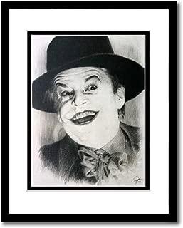 Jack Nicholson as Joker in Batman (1989) Sketch Portrait, Charcoal Graphite Pencil Drawing Poster - 16