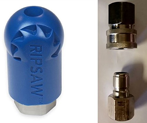 Bundle - 3 items: Ripsaw Rotating Turbo Nozzle (10.0), Male & Female Stainless Steel Socket