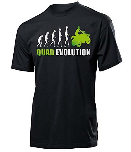 Quad Evolution Geburtstag Geschenke Herren Männer t Shirt Tshirt t-Shirt Fanshirt Fan Fanartikel zubehör Bekleidung Oberteil Hemd Kleidung Outfit Spruch Fun witzig Artikel