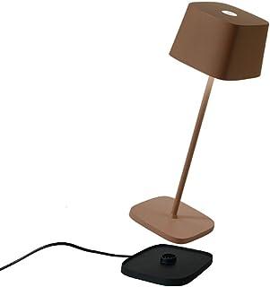 Zafferano - Ofelia Pro Aluminium Lampe de Table à LED à Intensité Variable, Base de Chargement par Contact, Protection IP6...