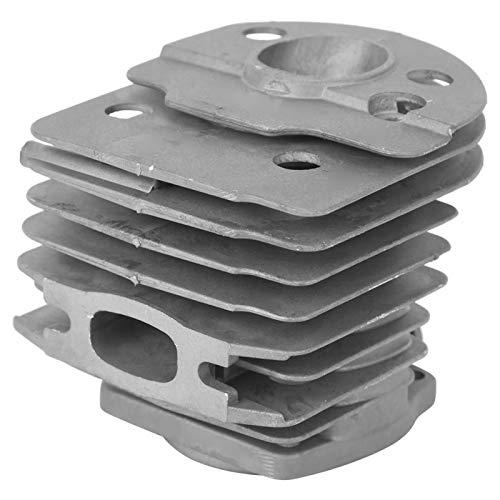 Kit de pistón de cilindro, pistón de cilindro, con dos aletas de enfriamiento Disipación de calor rápida No es fácil de romper Material de aluminio para motosierra de gasolina 55 Industrial